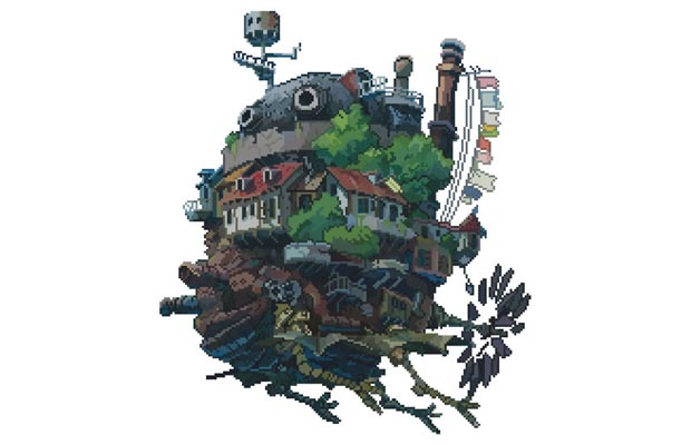 8bit Howls Moving Castle T-Shirt