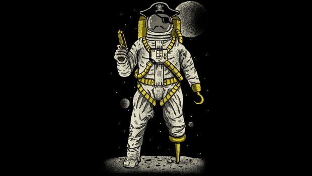 Astronaut Pirate T-Shirt