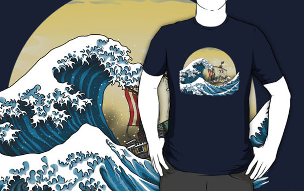 Going Merry by Hokusai T-Shirt