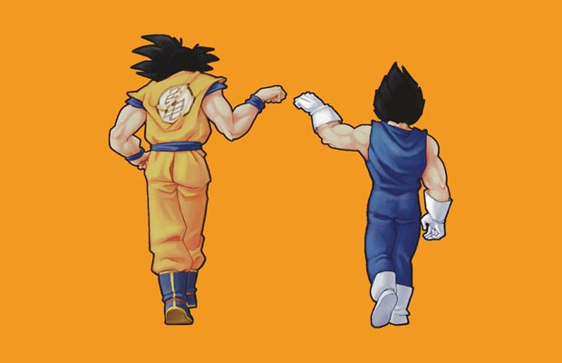 Goku and Vegeta Fist Bump T-Shirt