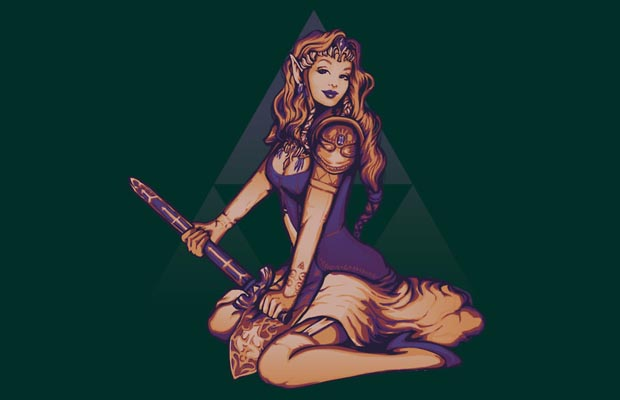 Its Dangerous to Go Alone Zelda Pinup T-Shirt