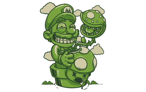 Mario Shrooms T-Shirt