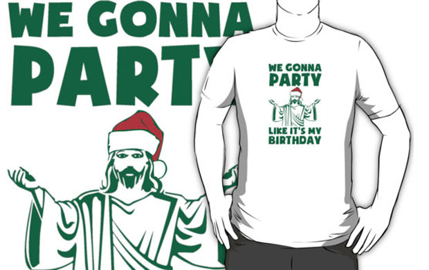 Party Like Its A Christmas Birthday T-Shirt