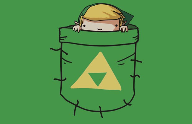 Pocket Link with Triforce T-Shirt