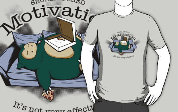 Snorlax Used Motivation T-Shirt
