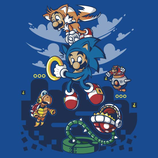 Super Sonic Bros T-Shirt
