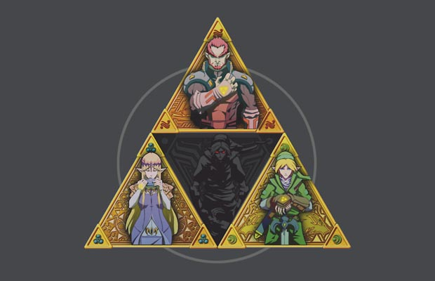 The Triforce and a bit of darkness T-Shirt