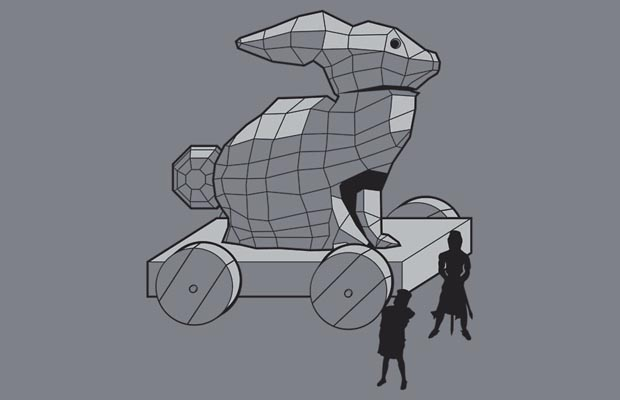 Trojan Rabbit T-Shirt